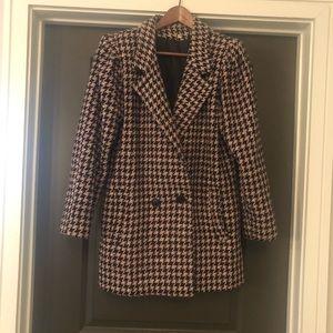 Learsi Plaid Coat Women's Size 10